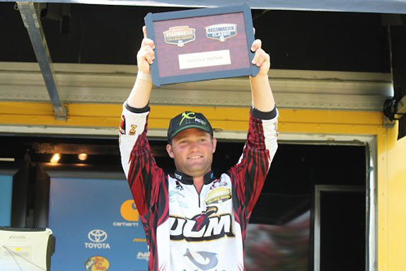 College: ULM angler becomes No. 4