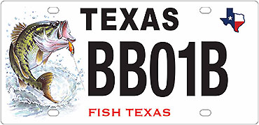 Texans can get new bass-themed license plate
