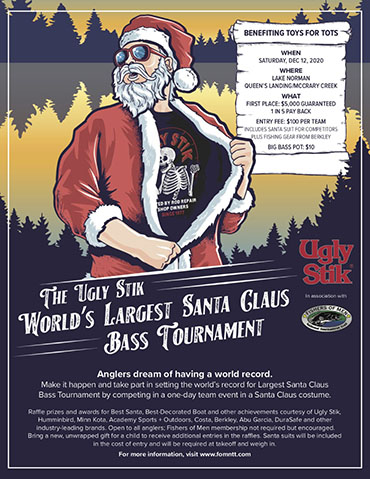 Entries available for Ugly Stik Santa derby
