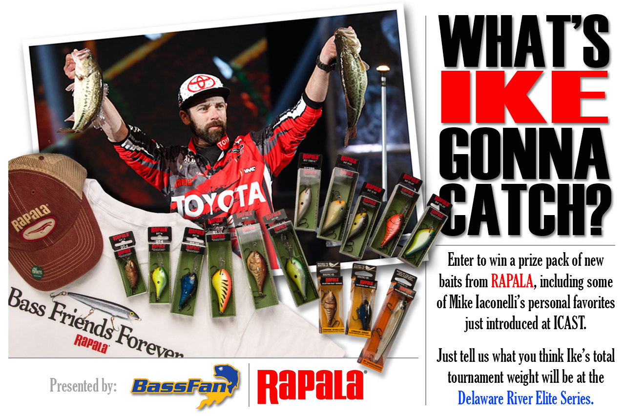 <b><font color=red>Rapala Giveaway: Guess Ike's Delaware River weight</font color></b>