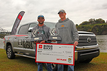 Smallmouth prevail in Bonus Bucks event