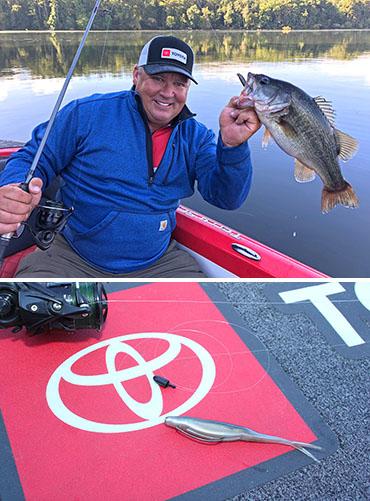 Scroggins feeds finicky bass a Petey Rig