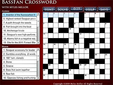 <b><font color = 336699>The BassFan Crossword</b></font>