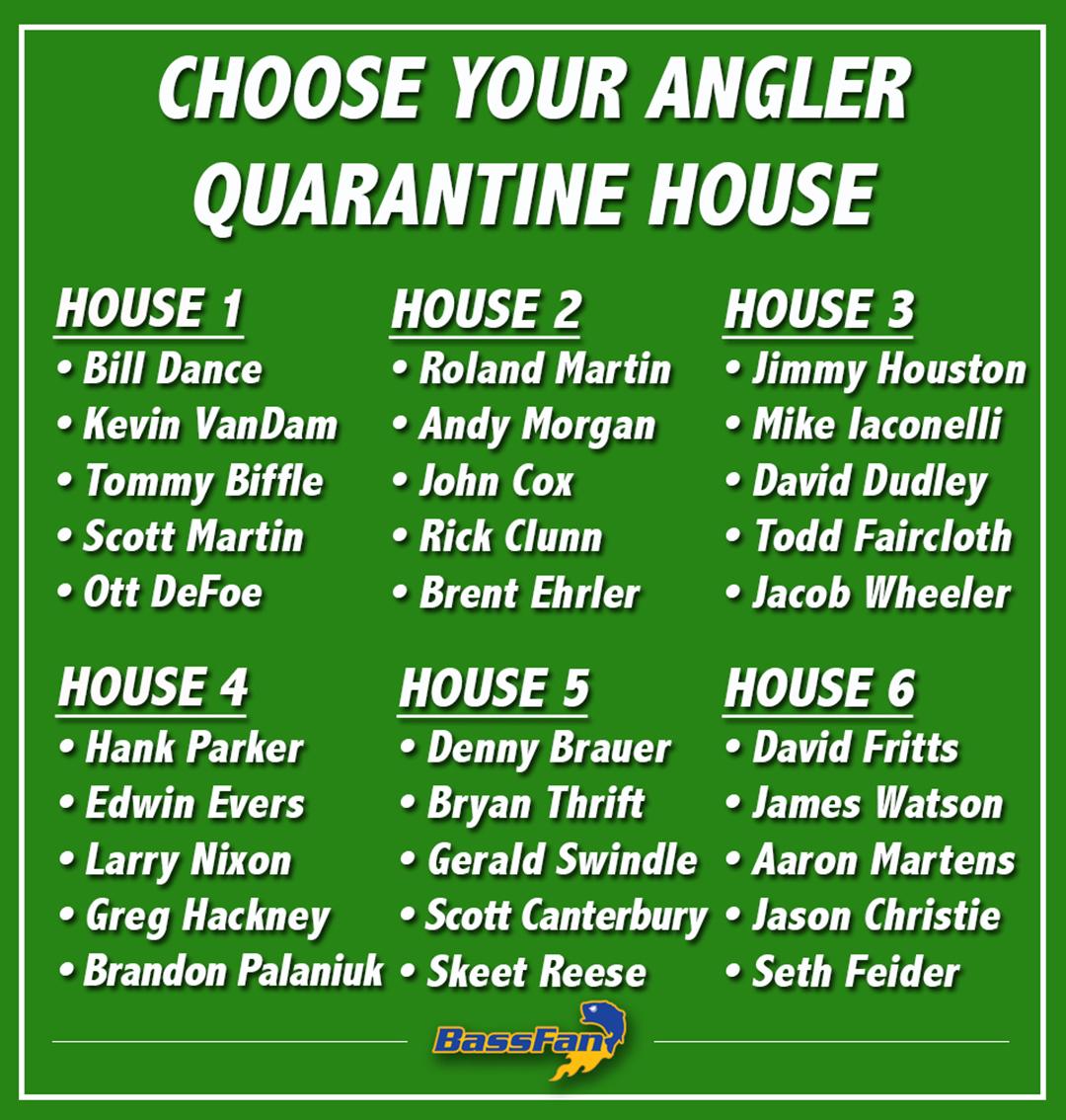 Pick your angler quarantine house