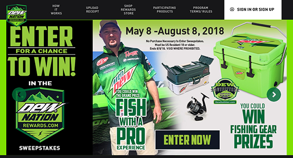 Dew Nation giving away trip with Grigsby