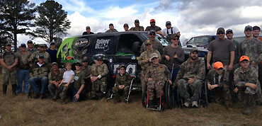 Anglers help out at disabled hunt